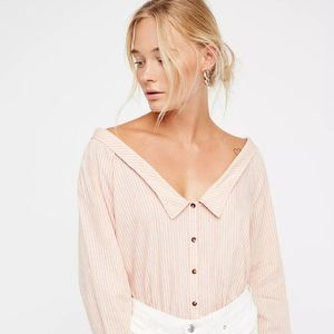 FREE PEOPLE Cool Like Courtney Blouse